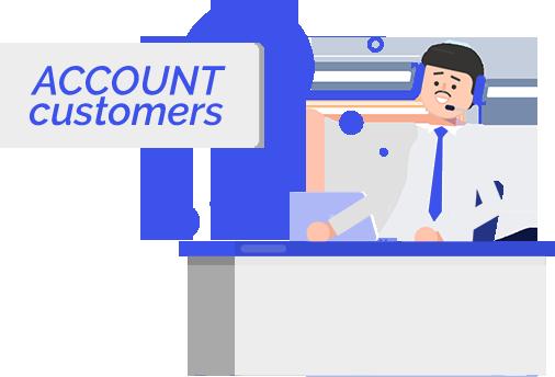 Account customers
