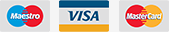 Maestro, VISA, MasterCard